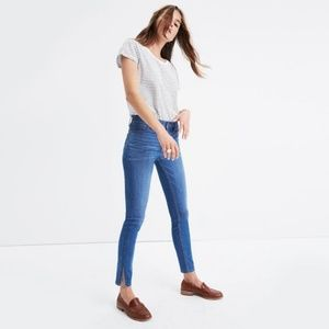 "Madewell 9"" HIGH-RISE SKINNY JEANS w/ SIDE-SLIT"